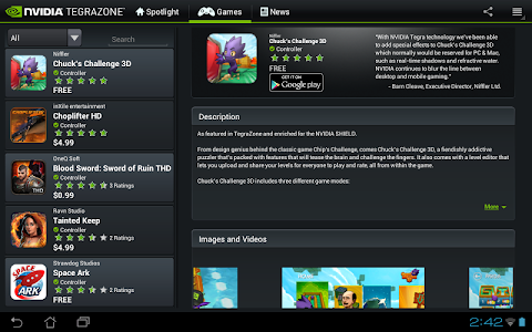 NVIDIA TegraZone 2 screenshot 5