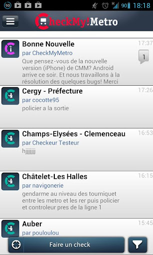 CheckMyMetro Paris