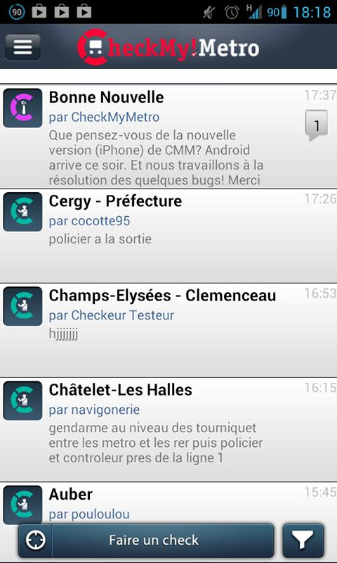 CheckMyMetro Paris- screenshot