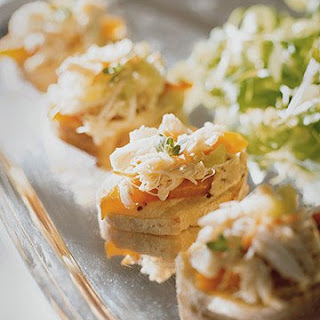 Crab Salad Canapes.