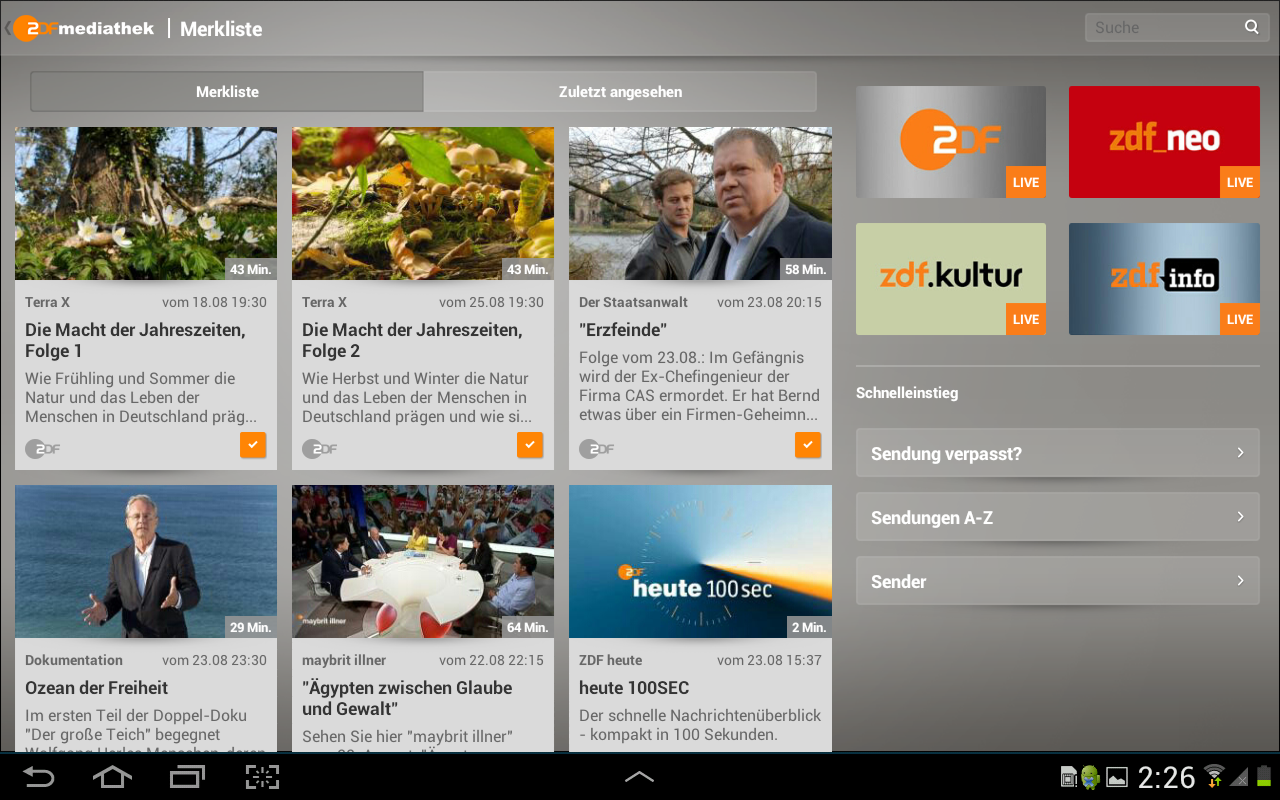 ZDFmediathek - screenshot