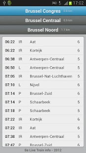 BE Live trein info 2 - NMBS - screenshot thumbnail