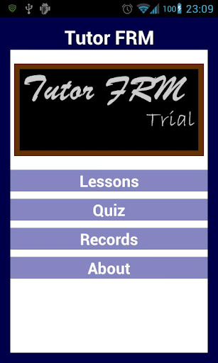 Tutor FRM Trial