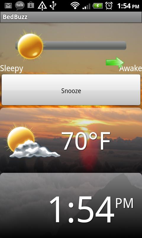 BedBuzz Talking Alarm Clock - screenshot