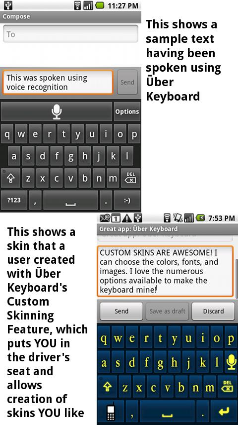 Uber Keyboard (Text/Voice)- screenshot