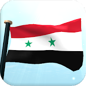 Syria Flag 3D Free Wallpaper