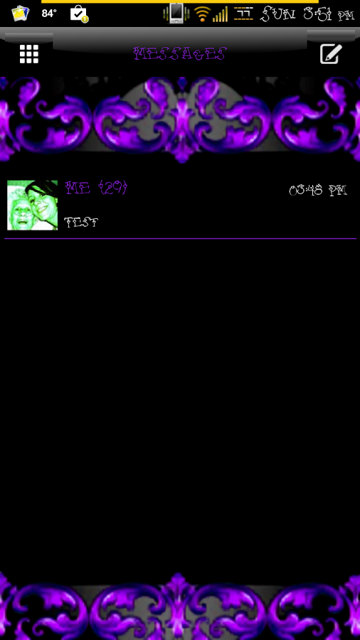 Elegant Passion GO SMS Theme - screenshot