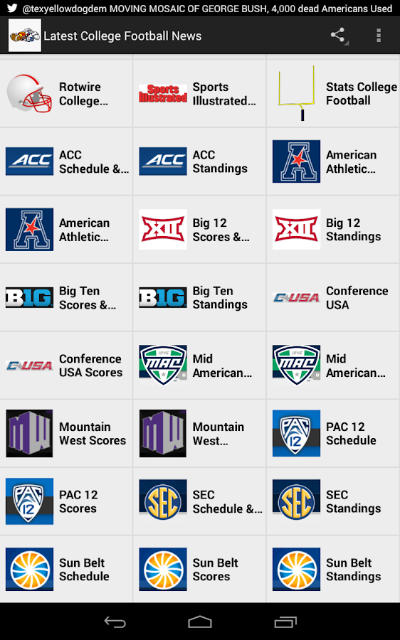 Latest College Football News - screenshot