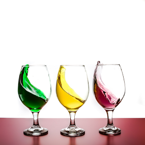 by Ian McGuirk - Artistic Objects Glass ( champagne glasses )