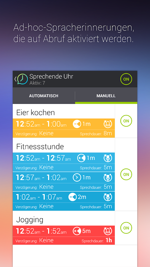 Sprechende Uhr & Timer – Screenshot