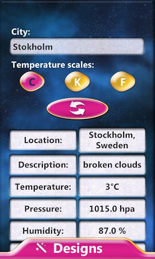 午夜 - 時鍾天氣預報微件
