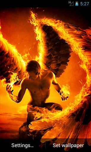 Fire Angel Live Wallpaper
