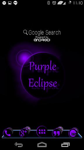 Purple Eclipse Launcher Theme