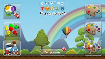 Screenshot of Rainbow Train: teach colors lv