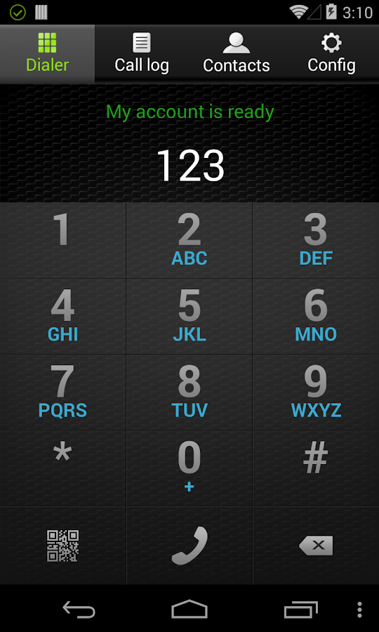 Screenshots of Zoiper SIP softphone for Android