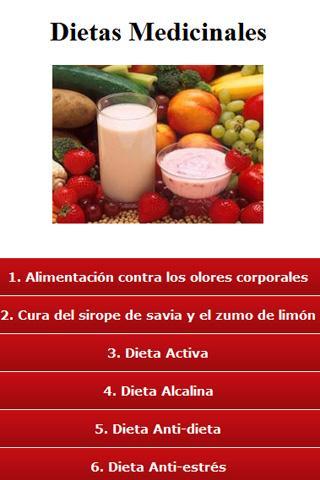 Las Dietas medicinales