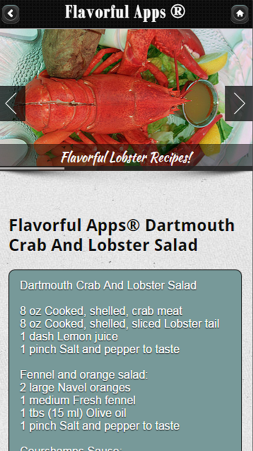 Lobster & Lobster Boil Recipes - Android Apps on Google Play