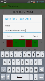 Attendance Register (students)- screenshot thumbnail