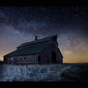 Barn V  by Aaron Groen - Landscapes Starscapes ( milkyway, dark rift, the great rift, aaron groen, homegroen photography, south dakota, milky way stars, milky way, barn series, astro, barn, stars, astrophotography, galactic center, barn 5 )