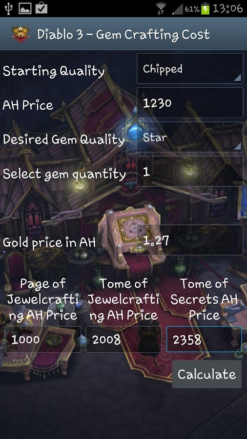 Diablo 3 - Gem Crafting Cost - screenshot