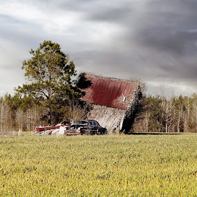 Needs some work by Debra Graham - Buildings & Architecture Decaying & Abandoned ( car in field, barn, rusty car,  )