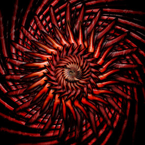 sharp by Dietmar Kuhn - Illustration Abstract & Patterns ( abstract, red, sharp, spiral, central,  )