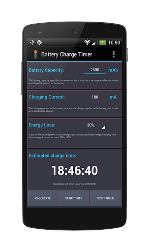 Battery Charge Timer Lite