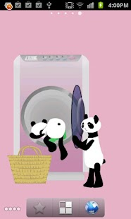 Panda washing Live Wallpaper - screenshot thumbnail