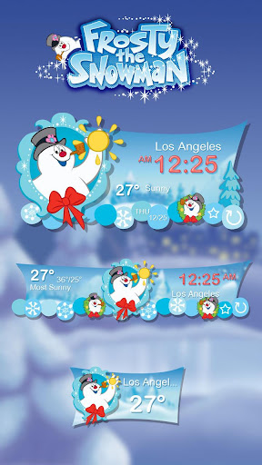 Snowman Theme GO Weather EX