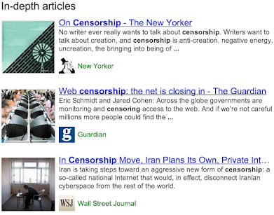 Search result showing in-depth articles feature.