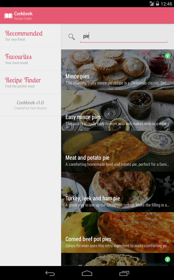 Cookbook - Beautiful Recipes- screenshot