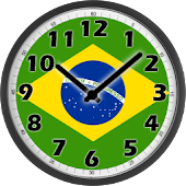 Brazil Flag Analog Clock