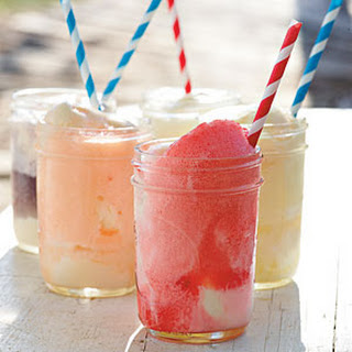 Fizzy, Fruity Ice-cream Floats.