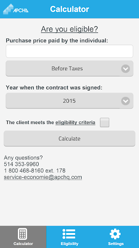 Tax calculator - APCHQ