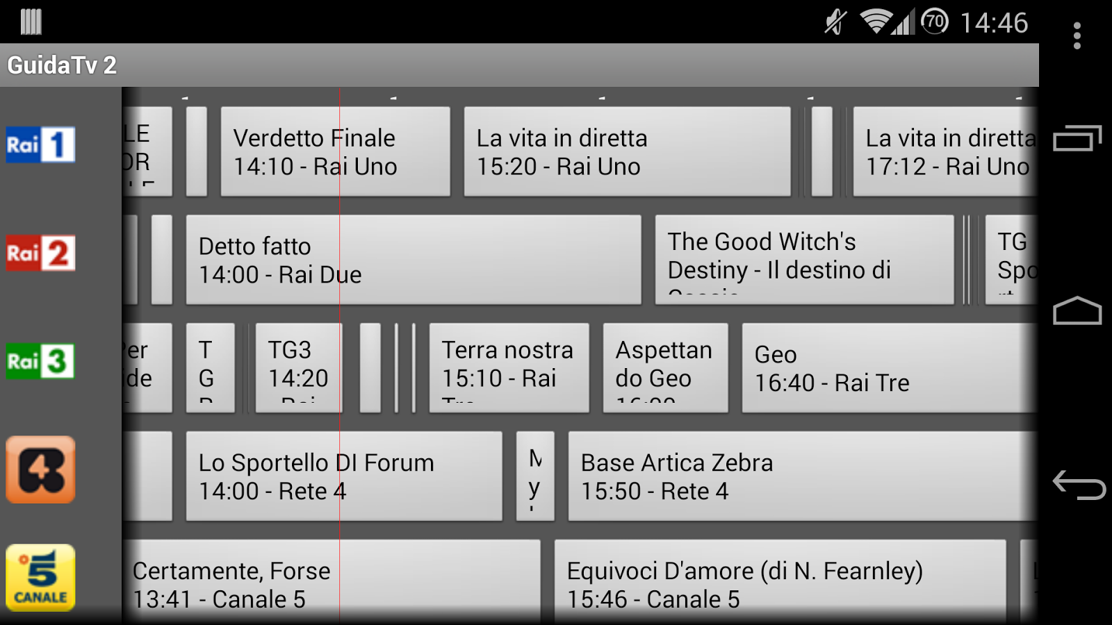 Guida Tv 2 Free - screenshot