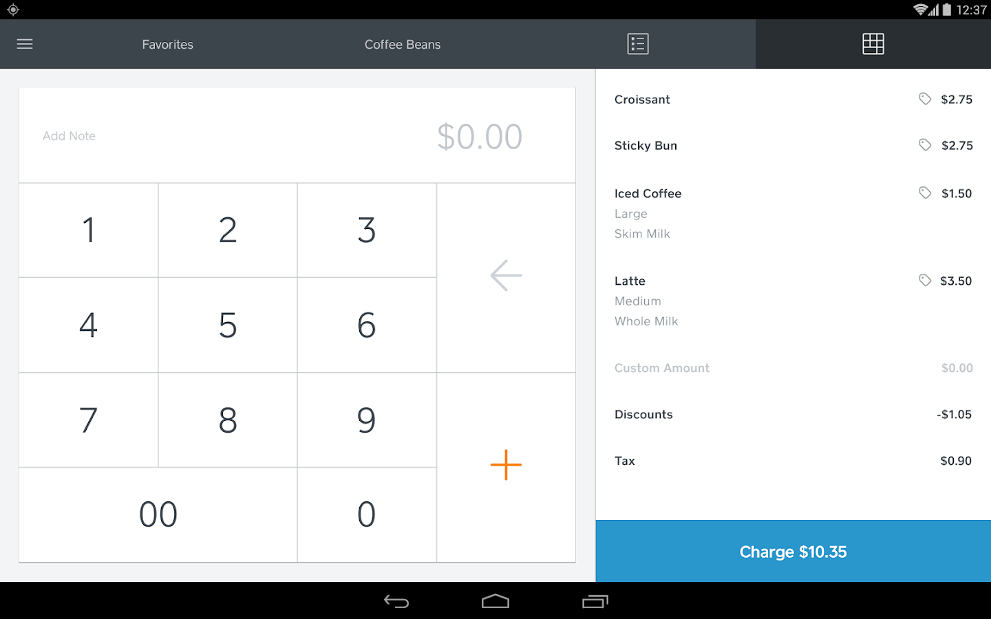 Square Register- screenshot