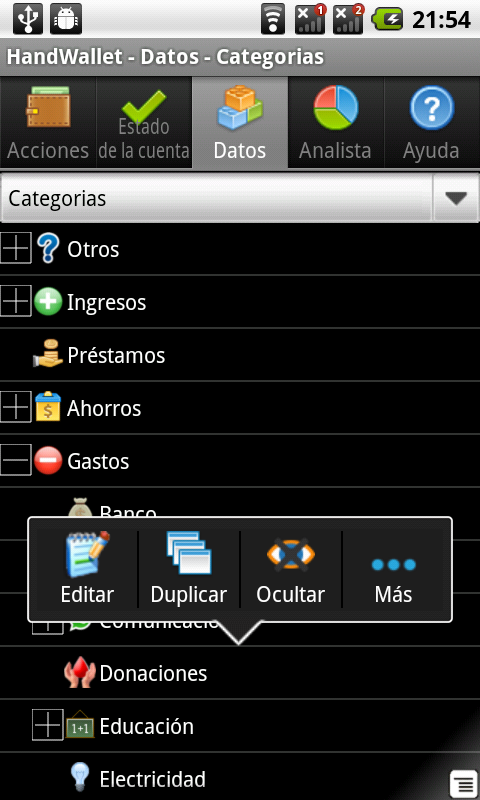 Gestor de Gastos - screenshot