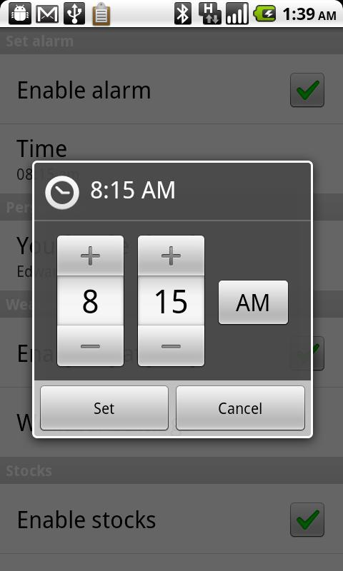 Smarter Alarm - screenshot