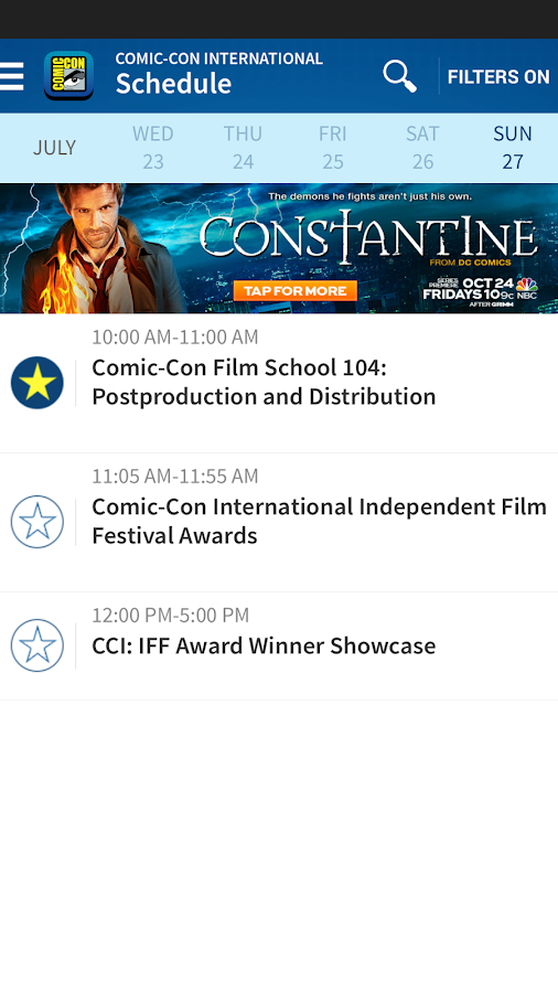 Official Comic-Con App - screenshot