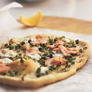 Smoked-Salmon Pizza with Mascarpone and Capers