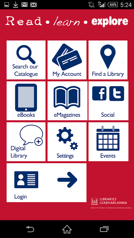 Cork City Libraries- screenshot