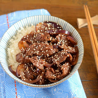 Japanese Beef and Rice Bowl.