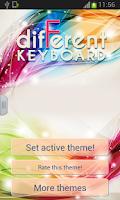 Screenshot of Different Keyboard