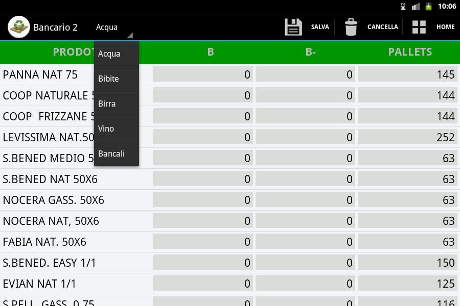 Gestione Inventario- screenshot