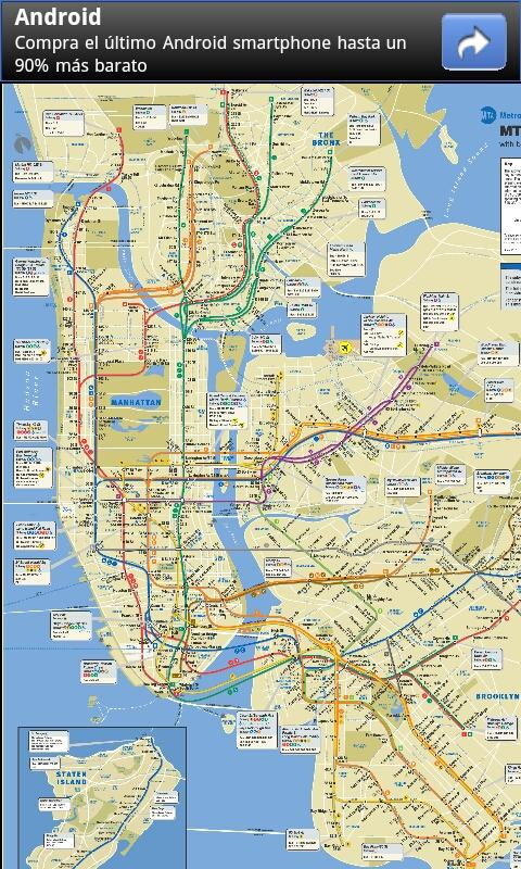 New York Subway & Bus maps - screenshot
