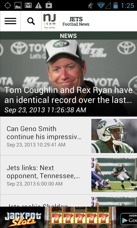 NJ.com: New York Jets News - screenshot