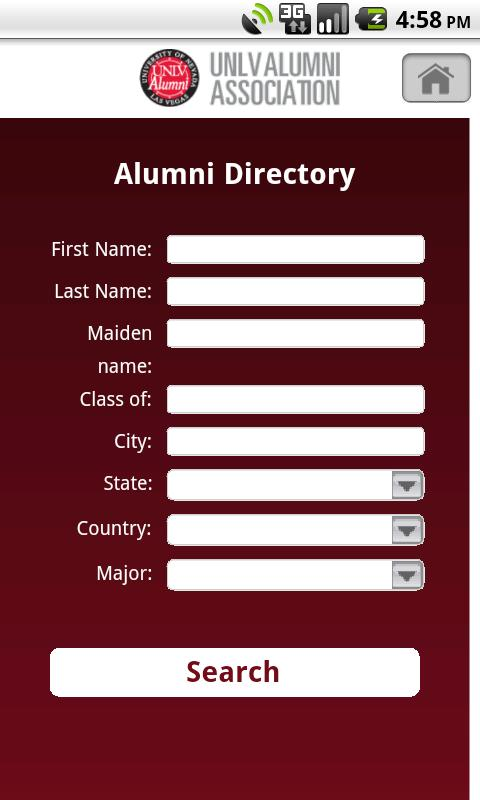 UNLV Alumni- screenshot