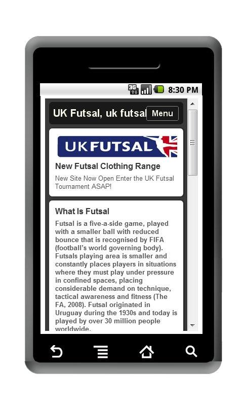 Official UK Futsal App - screenshot