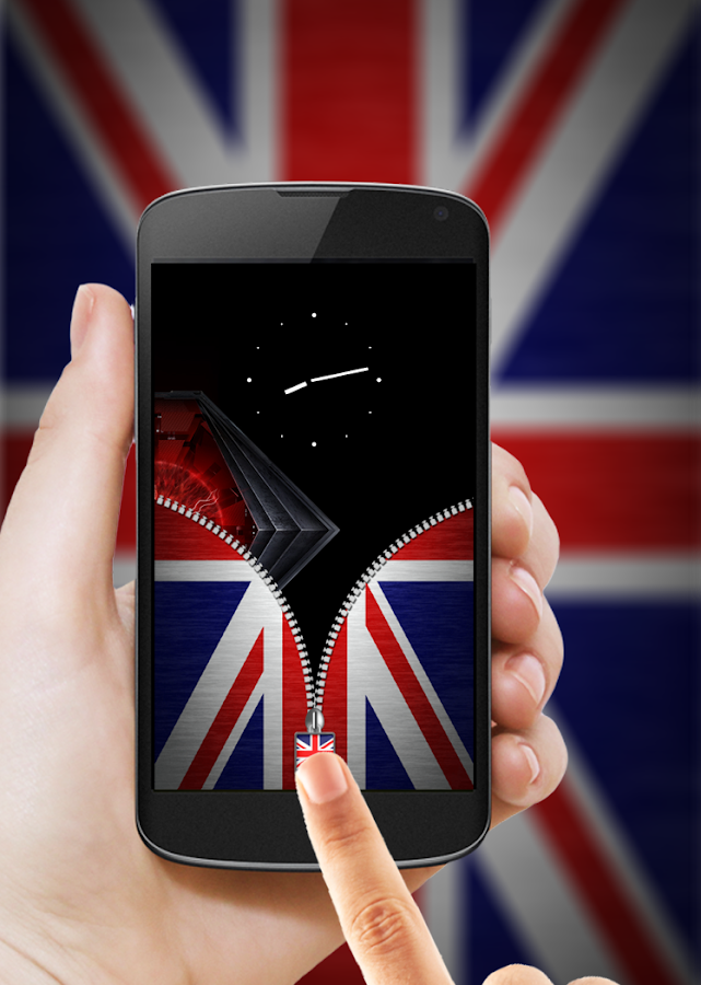 UK Flag Zipper Lock- screenshot