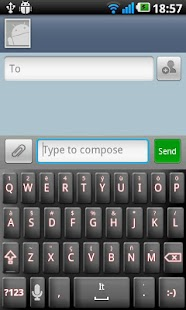 Droid Tech Keyboard Skin Red - screenshot thumbnail